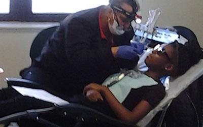 Markita at dentist
